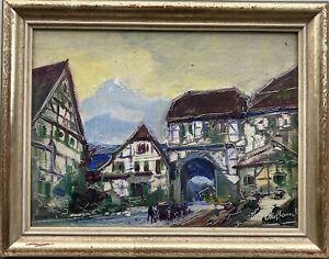 Stadtansicht bei Stuttgart? Otto Hamel (1866-1950) 21x26,5 Unterallgäu Schwaben