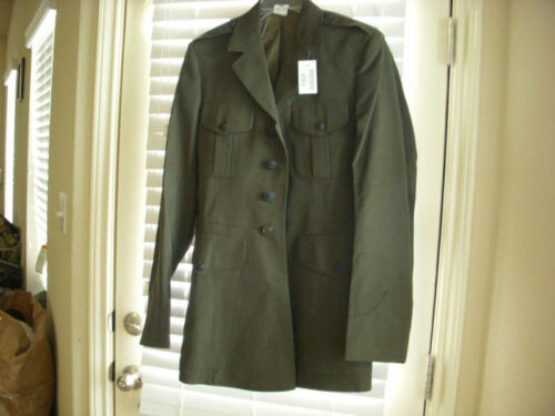 USMC MAN POLY//WOOL GABARDINE UNIFORM COAT SIZE 38XL NWT