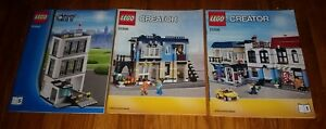 Lego-60047-Instruction-Manuals-City-Police-Station-31026-bike-shop-cafe-LOT-OF-3