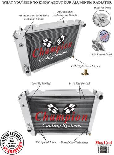 1967-1968 Ford Thunderbird Radiator Aluminum 3 Row 302 351 400 429 460ci.