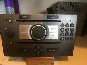 vauxhall cd 70 navi sat nav cd radio unit fit astra h. Black Bedroom Furniture Sets. Home Design Ideas