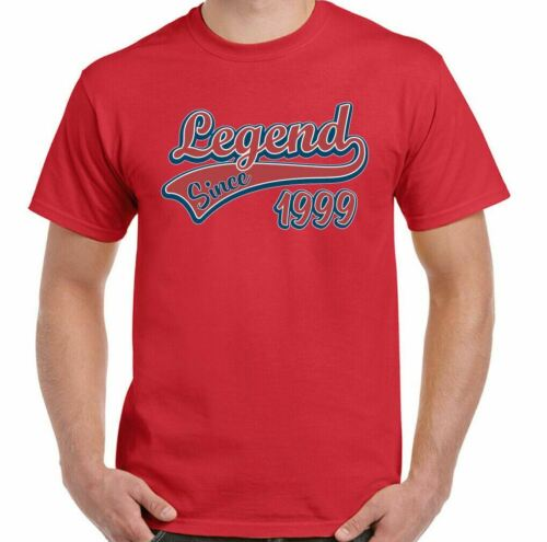 Details about  /22nd Birthday T-Shirt 1999 Legend Since Mens Funny 22 Year Old Unisex Tee Top