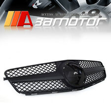 C63 STYLE MATTE FLAT BLACK FRONT GRILLE 1 FIN for W204 2008-2014 C250 C300 C350
