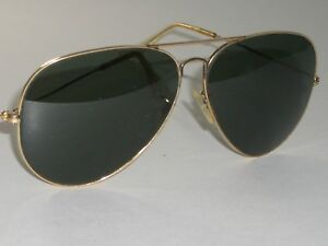 695a813880ec8 1970 s 62  12 VINTAGE B L RAY BAN G15 UV ARISTA NARROW BRIDGE ...
