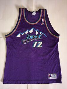 0cdb70068 Image is loading Vintage-John-Stockton-Utah-Jazz-Champion-Jersey-12-