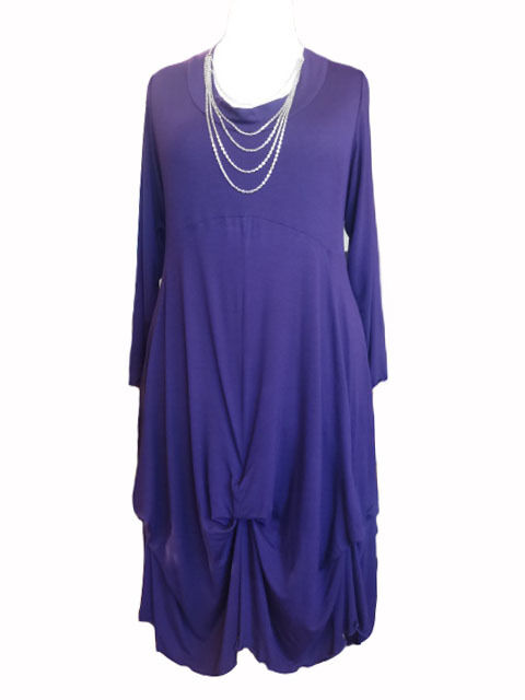 CA25 Caroline Ann Lagenlook Hitched Tunic   Dress lila lila lila Made to order 79f1d0