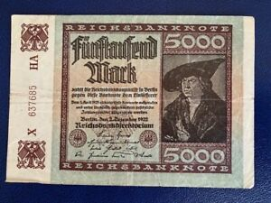 GERMANY-5000-MARK-1922-VERY-FINE