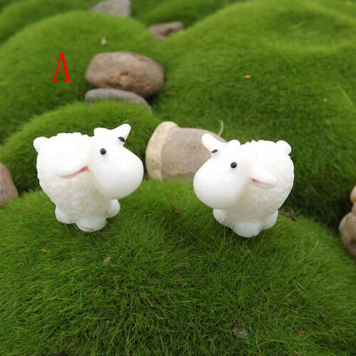 5Pcs Mini Sheep Home Micro Fairy Garden Figurines Miniatures Home  Decor OF