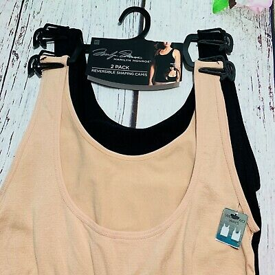 Marilyn Monroe Shapewear Camisole Shaping Camis 2 Pack Style 7130 Reversible