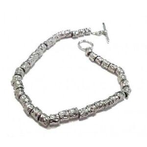 nuovi stili 66f52 9df11 Dettagli su Bracciale braccialetto da uomo donna in argento 925 pepite tipo  dodo