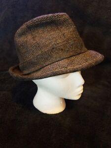 La foto se está cargando Vintage-Mens-Lana-Tweed-Fedora-Sombrero -Stetson-Gris- cd5b04683dc7