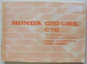 Honda-C50-C50L-C70-1979-3608702-Motorcycle-Owners-Handbook-Multilingual