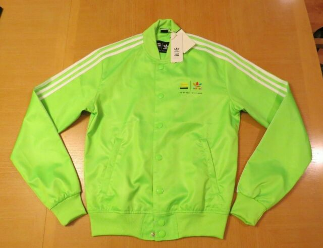 Details about Adidas Pharrell Williams Mens Track Bomber Jacket Green Z97401 A4C