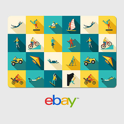 eBay Digital Gift Card - Sports & Outdoor Designs - Email Delivery