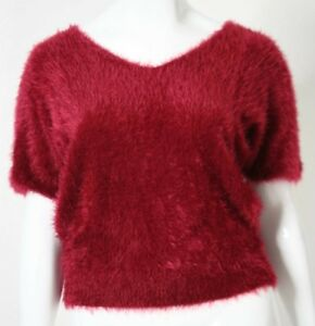 Xl Size Vintage Retro 50's Bnwt Red Fluffy Or Blouse 16 Top Sambara qTcw58I