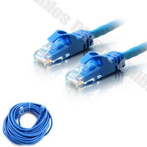 20FT CAT5 Modem Cable Blue Ethernet LAN Network RJ45 Wire CAT5E RJ ...