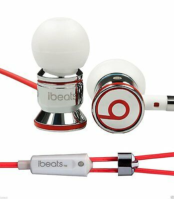ORIGINAL Monster Beats by Dr Dre iBeats In-Ear Headphones for Apple iPhone-White
