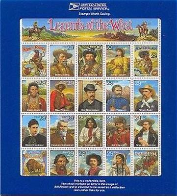 2870, Legends of the West Error sheet with blue holder - Stuart Katz