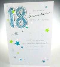 For A Special Grandson On Your 18th Birthday Happy 18 Card Lovely Words
