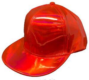 63f9a1a88368bb Image is loading SHINY-HOLOGRAPHIC-BASEBALL-CAP-HAT-SNAPBACK