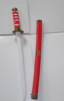 2 X Ninja Samurai Rosso Spade. Kids Play Giocattolo Regalo, Costume.-