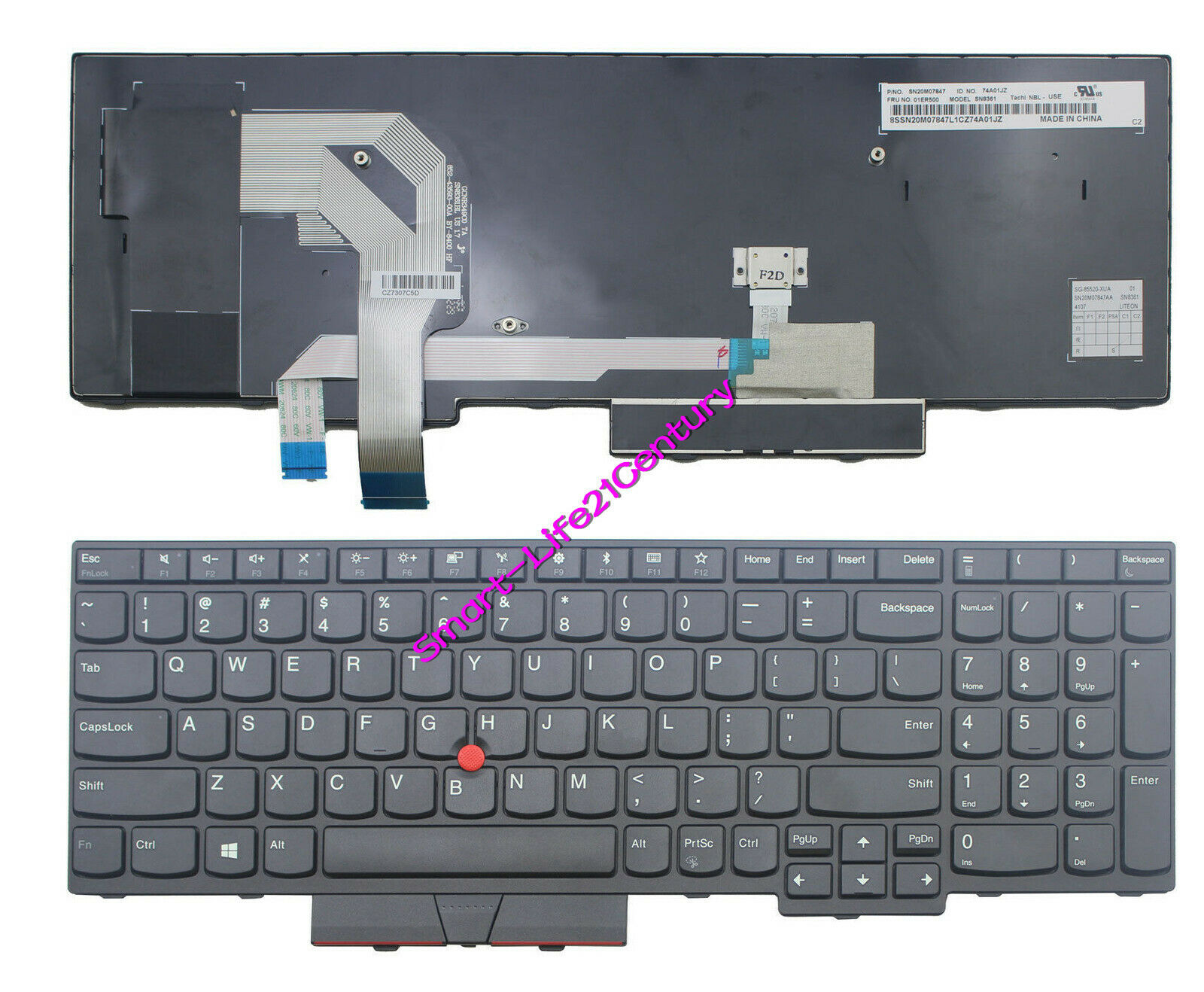 For lenovo IBM Thinkpad T570 T580 P51s P52s (Not Compatible P51 P52) US keyboard