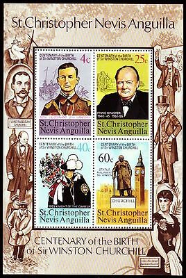 sp435 Kitts-nevis 1974 ** Bl.3 Sir Winston Churchill St üBerlegene Leistung