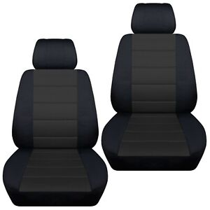 Fits-2014-2018-Mazda-3-front-set-car-seat-covers-black-and-charcoal