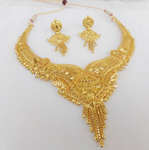 Image Is Loading Indian Bollywood Fashion Ethnic Bridal Gold Plated Jewelry