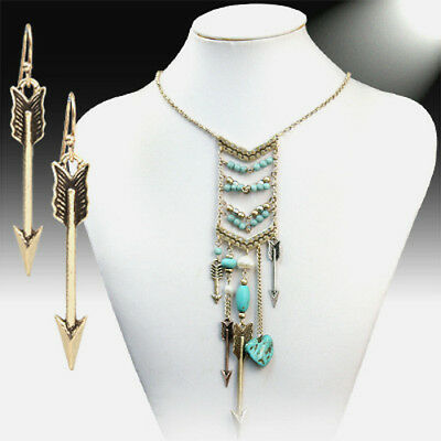 Turquoise Necklace Turquoise chevron Necklace Turquoise Arrow Necklace Chevron Necklace Bohemian Necklace  Free Gift Arrow Necklace