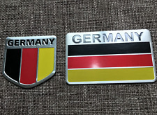 ALUMINUM Germany Flag Emblem Sticker 3D Decal COMBO PACK For Auto, Car, Truck