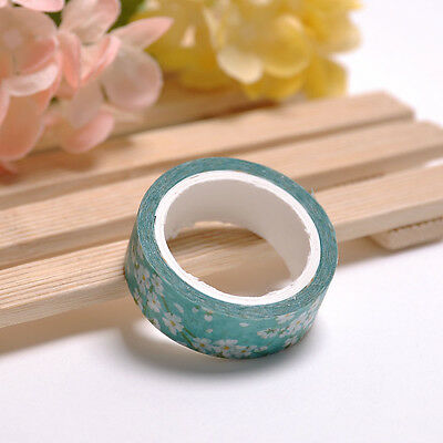 1 Roll Decorative Floral Design Washi Sticker DIY Paper Masking Adhesive Tape