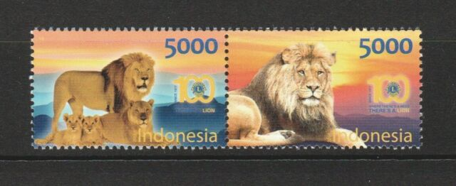 INDONESIA 2017 100 YEARS LION CLUB INT'L SE-TENANT OF 2 STAMPS MINT MNH UNUSED