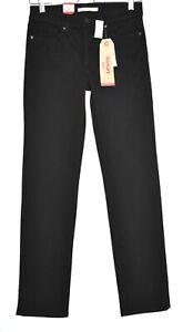Damen-Levis-314-Shaping-Straight-Schwarz-Stretch-Jeans-Gr-8-w26-l32-NEU