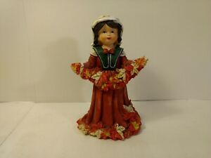 Girl-With-Leaf-Garland-Resin-Figure-Fall-Decoration-h154