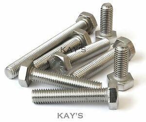 M4-M5-M6-M8-A2-Stainless-Steel-Hexagon-Head-Fully-Threaded-Set-Screws-Bolts