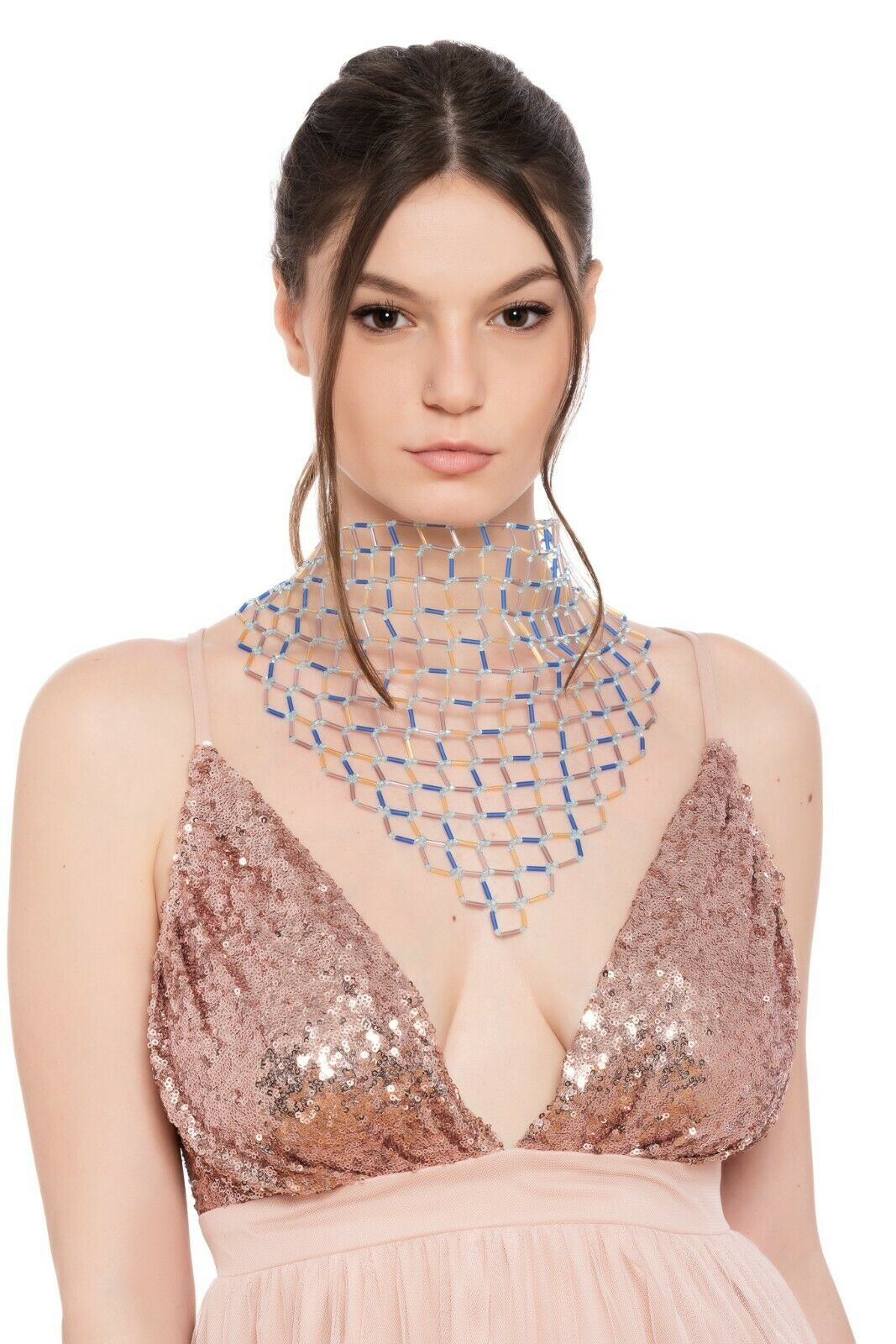 GIORGIO ARMANI RUNWAY Couture Jewels Brass / Resin Necklace Woman