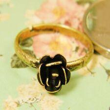 Ajustable vintage estilo goth color dorado rosa anillo