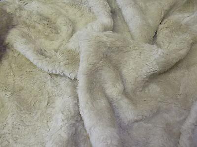 Faux Fur Fabric Material - STONE CRUSH