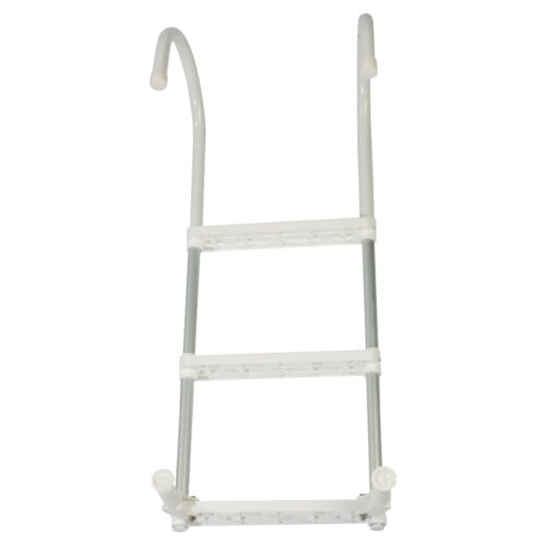 Boat Ladder Aluminium Hook Over Boarding Ladder 3 Steps Alloy Removable LADAL3