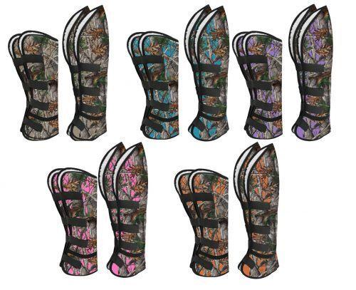 Showman SHIPPING BOOTS Cordura Nylon REAL OAK CAMO Set of 4 Fleece Inner Lined