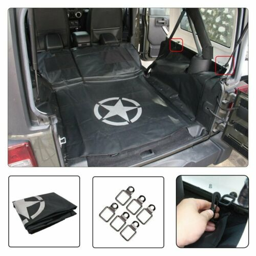 Rear Bench Seat Cover Mat Luggage Storage Case for Jeep Wrangler JK 2007-2018