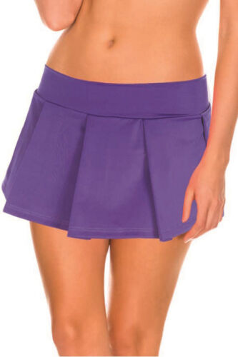 Naughty School Girl Stretch Solid Color Plaid Pleated Mini Skirt Lingerie S//M//L
