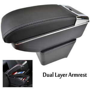 Details about Fit For VW Polo 02-09 Mk4 9N 9N3 Car Centre Console Armrest  Storage Box Tray