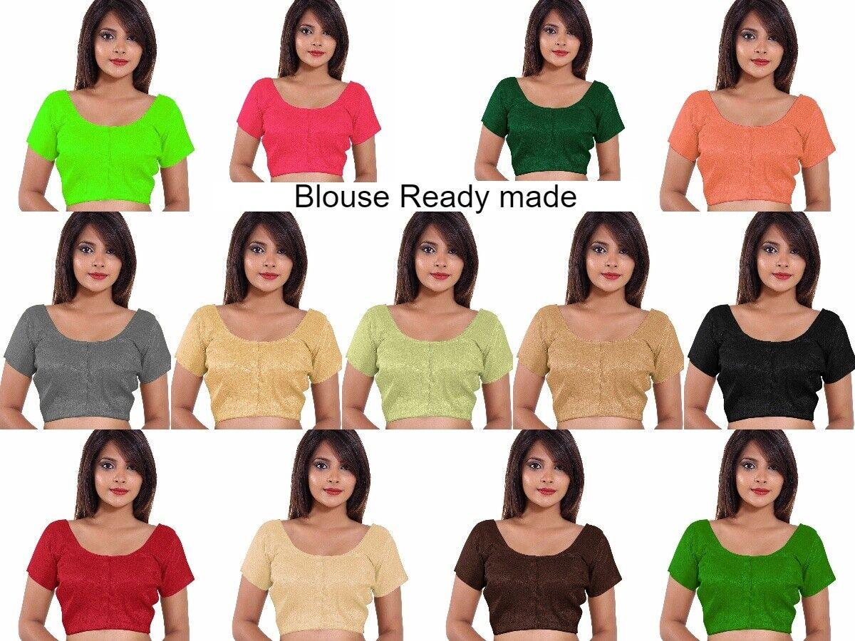 Bollywood Banglori Silk Women's Ready Made Blouse Indian Choli Blouse TOP RB01