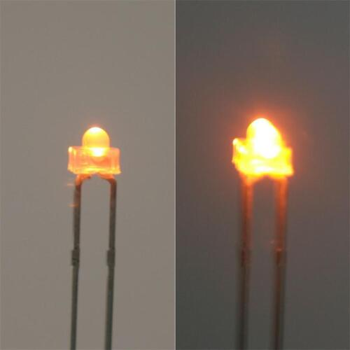 100 LED 1,8mm GELB yellow Linse diffus weiß jaune im Set geel gelbe LEDs