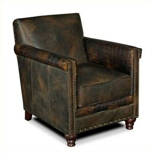 Image Is Loading Beaumont Lane Leather Club Chair In Old Saddle