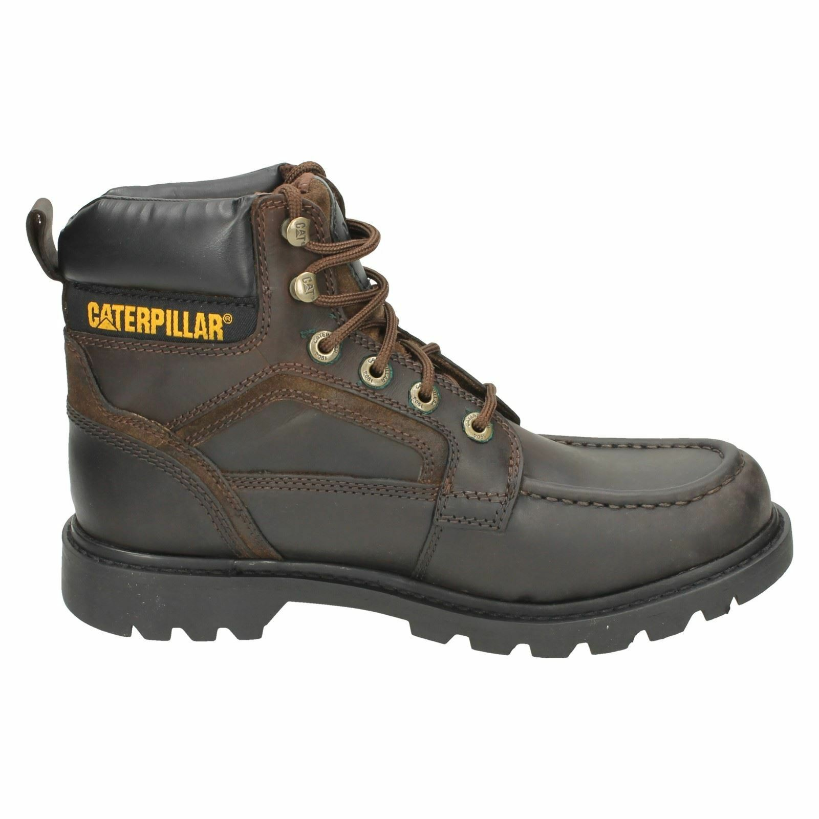 Men's TRANSPOSE boots Brown leather lace up boots  by CATERPILLAR Price £59.99