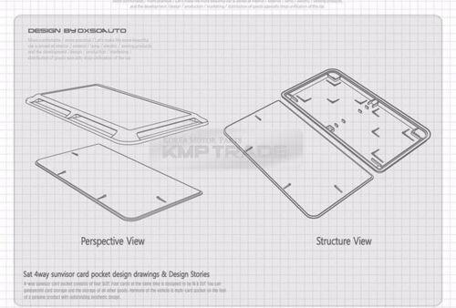 Interior Sun Shade Visor Slot Card Pocket Pouch Holder Case 1ea for HYUNDAI Car