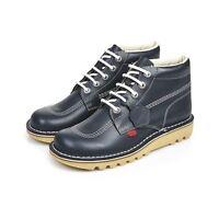 Kickers Men's Kick Hi Classic Navy Boots Hardwearing Rubber Durable Casual Shoes